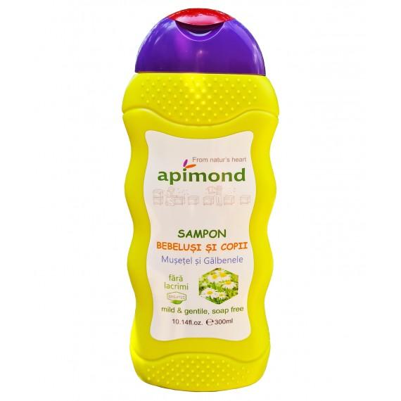 Sampon pentru bebelusi si copii  cu musetel si galbenele - bio, 300ml